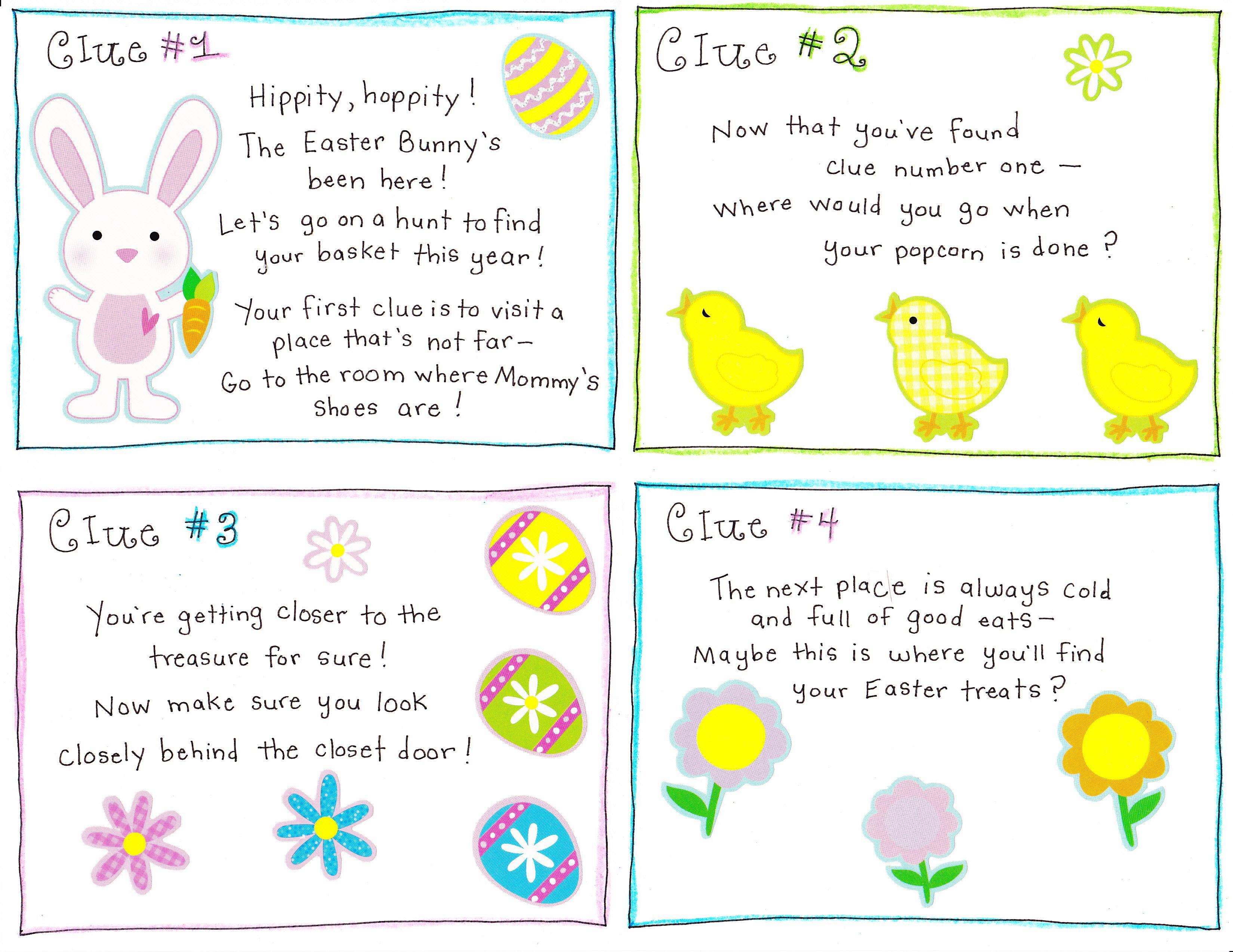 Easter Morning Scavenger Hunt Free Printable Happy Home Fairy