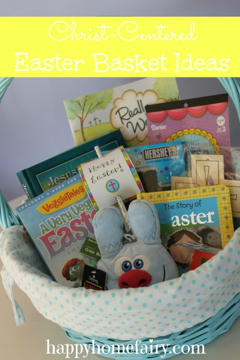 christ-centered easter basket ideas at happyhomefairy.com