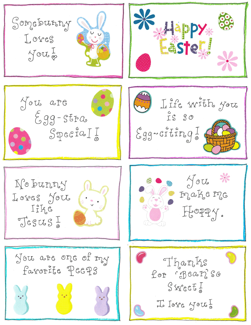 Easter Lunchbox Love Notes FREE Printable Happy Home