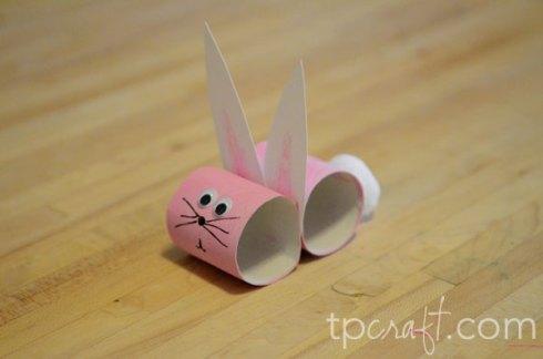 Happy Easter Kindergarten Decoration Concept - Rabbit From Toilet ... | 324x490