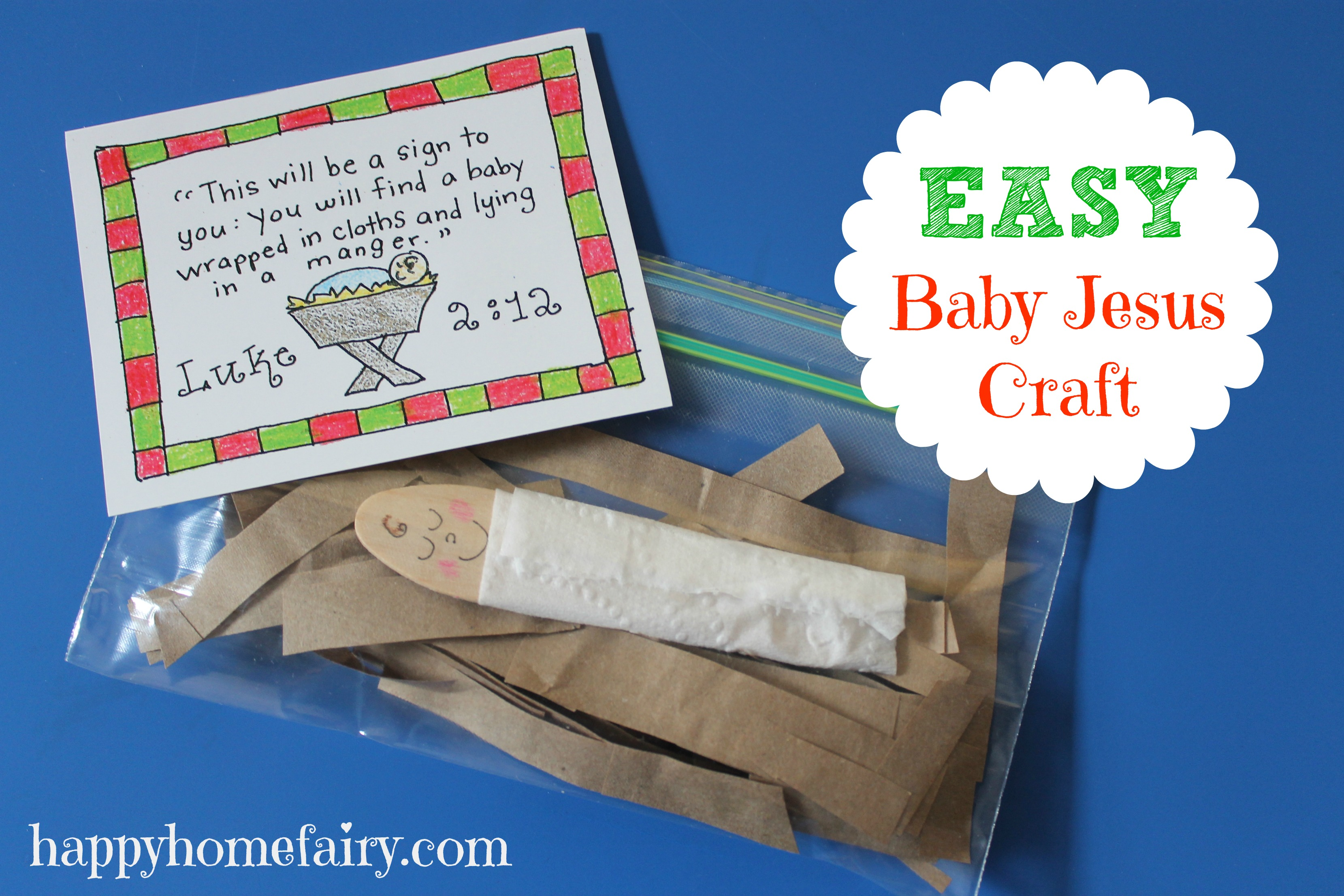 Easy Baby Jesus Craft FREE Printable