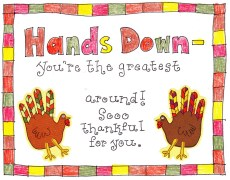 Thankful Handprint Turkey Craft – FREE Printable