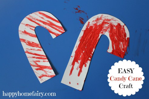 easy candy cane craft at happyhomefairy.com
