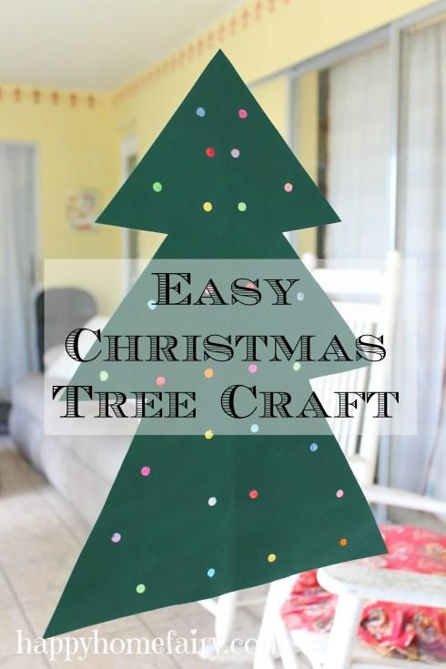 tree craft (super easy!) at happyhomefairy.com