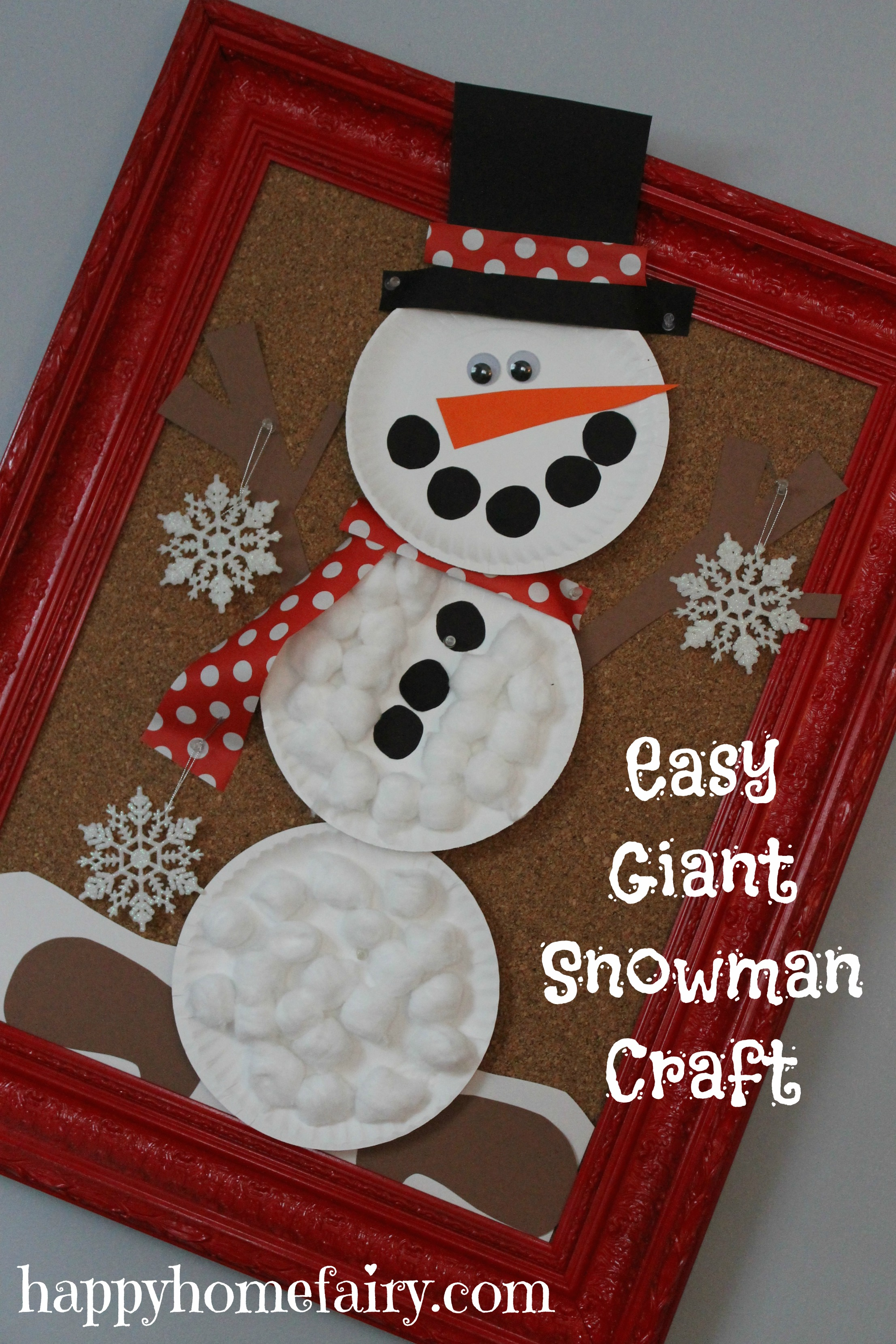Easy Giant Snowman Craft