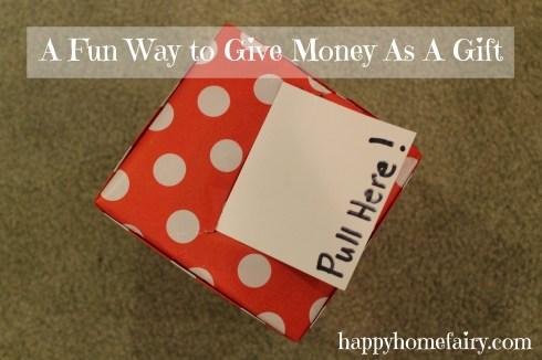 money gift at happyhomefairy.com