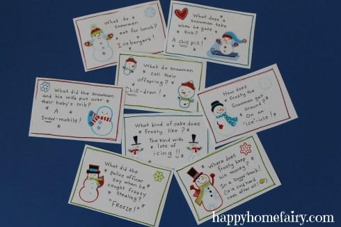 snowman joke cards 2