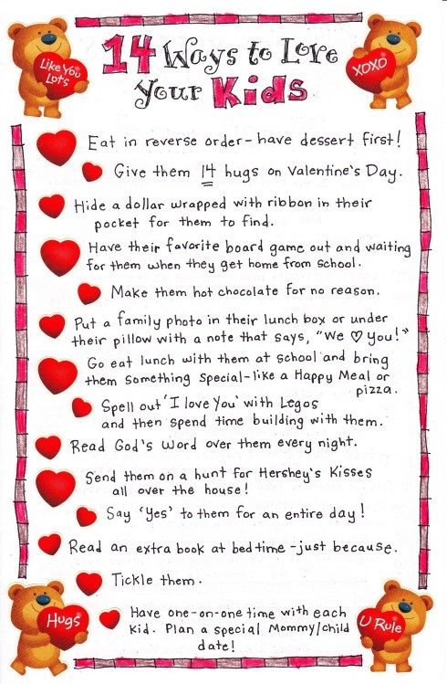 14 ways to love your kids