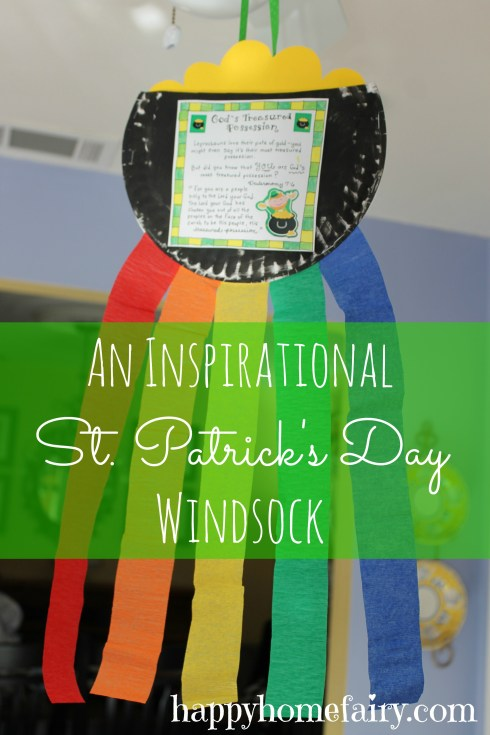 an inspirational st. pat's day windsock