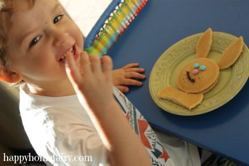 bunny pancakes happy