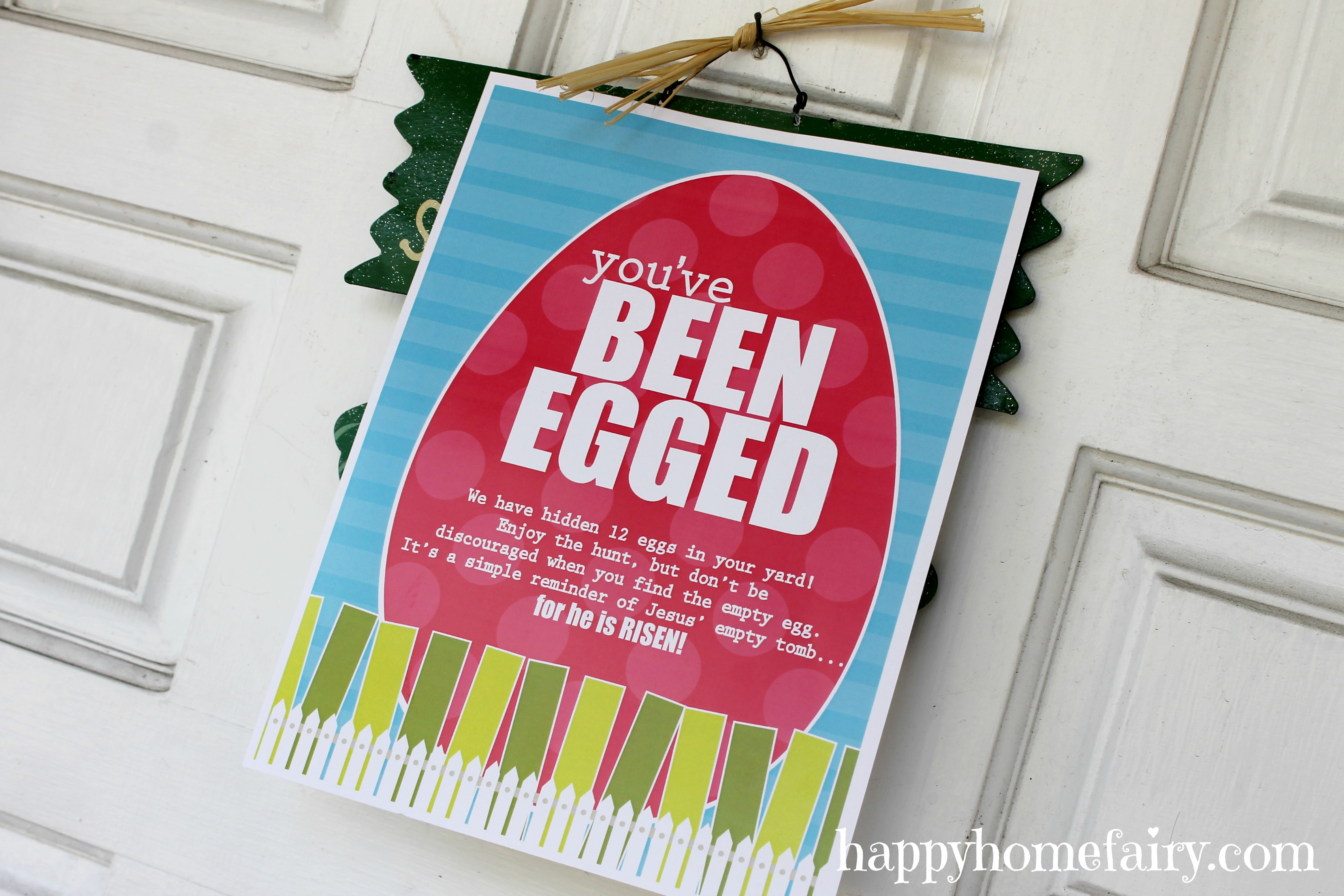 picture about You've Been Egged Printable titled Youve Been Egged - He Is Risen Style and design (Totally free Printable