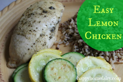 easy lemon chicken recipe at happyhomefairy.com - really tasty and so simple to make!