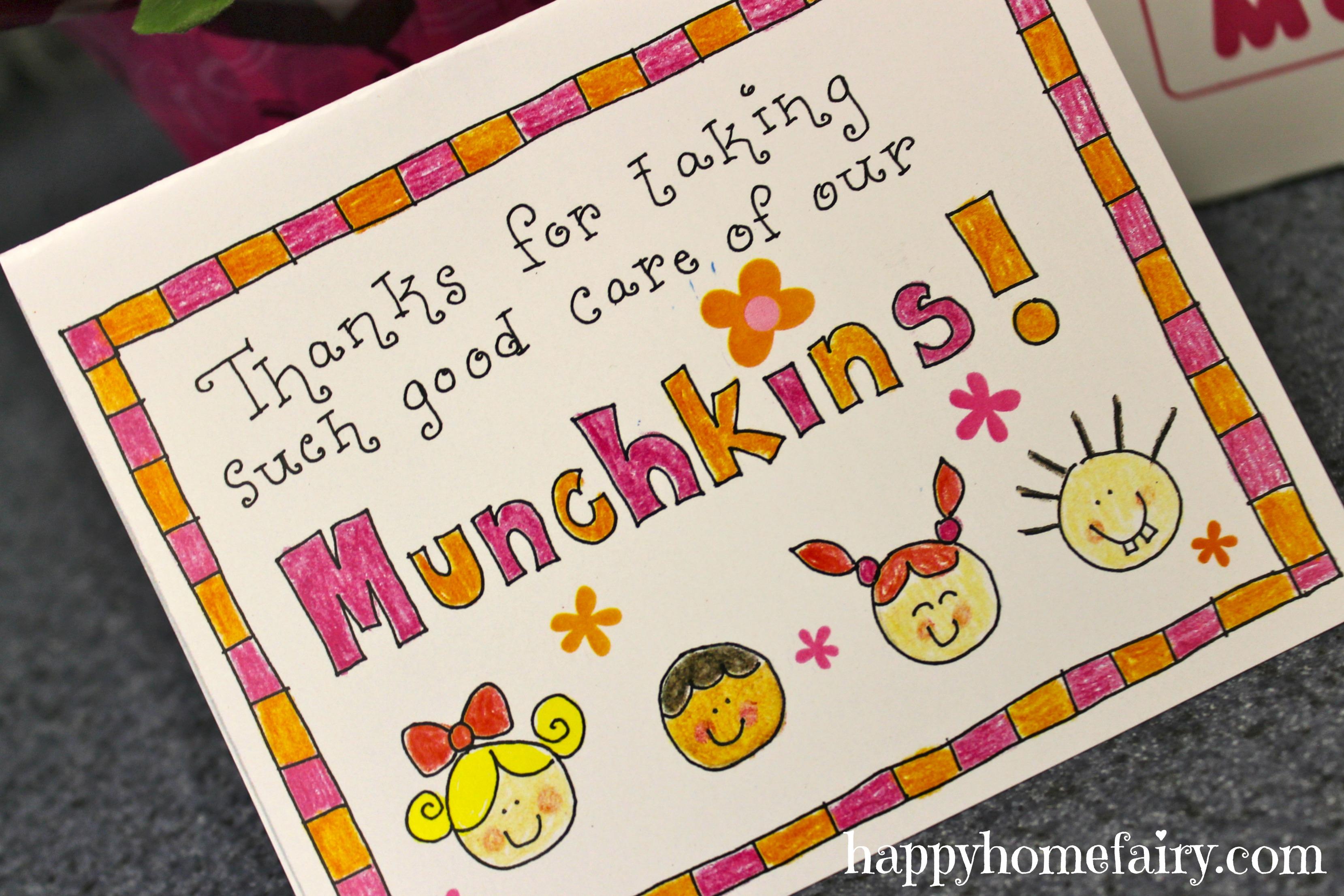 Easy Teacher Appreciation Idea FREE Printable Happy