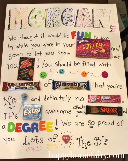 candy gram for graduate - so cute and fun!