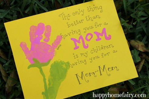 mother's day hand and footprint art