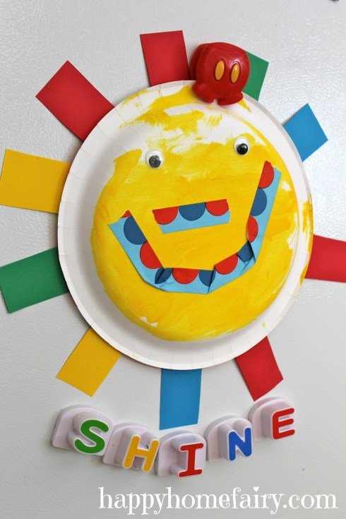 adorable summer paper plate