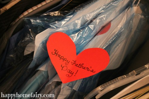 father's day closet surprise!