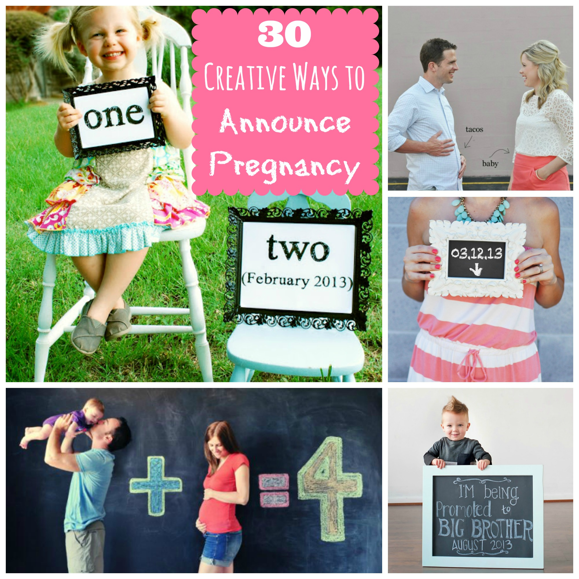 30 Creative Ways to Announce Pregnancy - Happy Home Fairy