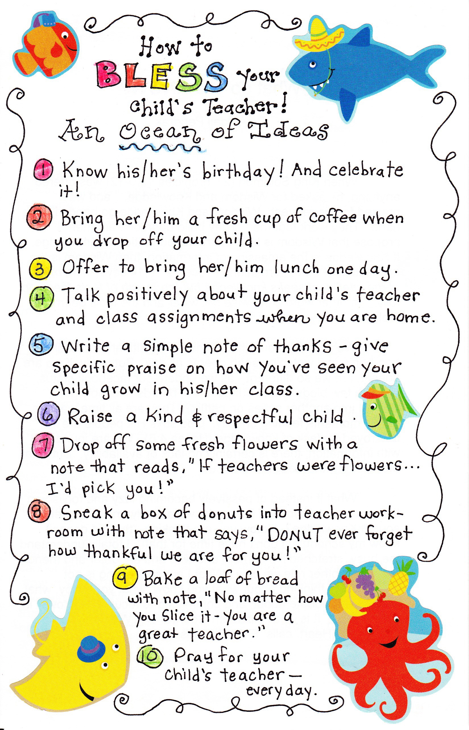 10 Ways To Bless Your Child S Teacher