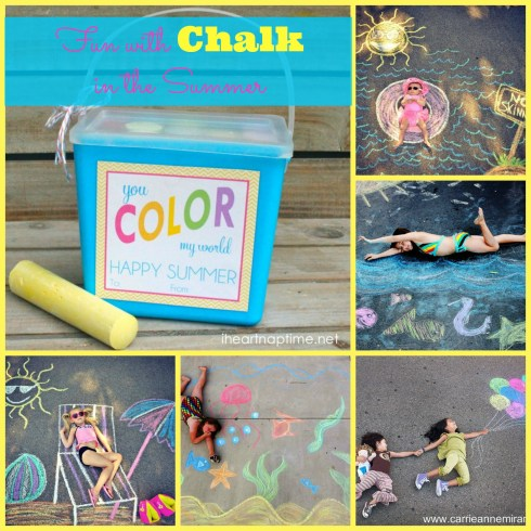 great summer chalk ideas at happyhomefairy.com