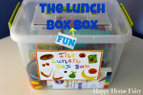 Adding fun things to your child's lunch - an easy way to be organized on hurried mornings!