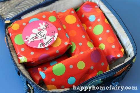 lunchbox fun with wrapping paper at happyhomefairy