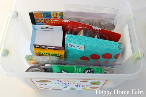 the lunch box FUN box inside