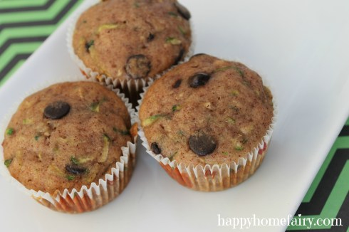 chocolate chip zucchini muffins - these are SOOO good