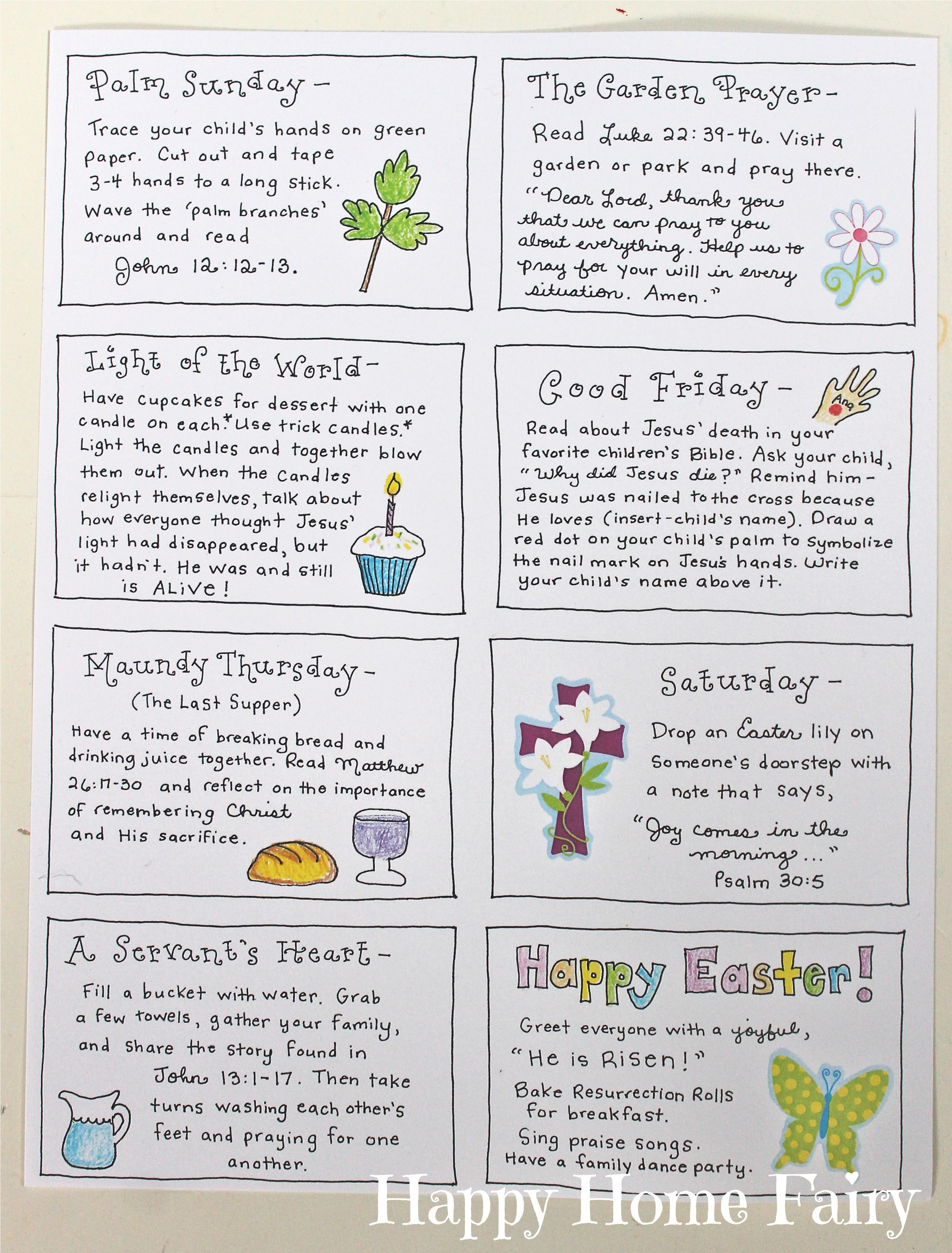 The joy journey christ centered easter activities free printable you can print the 20 activity cards at the bottom of this post negle Image collections