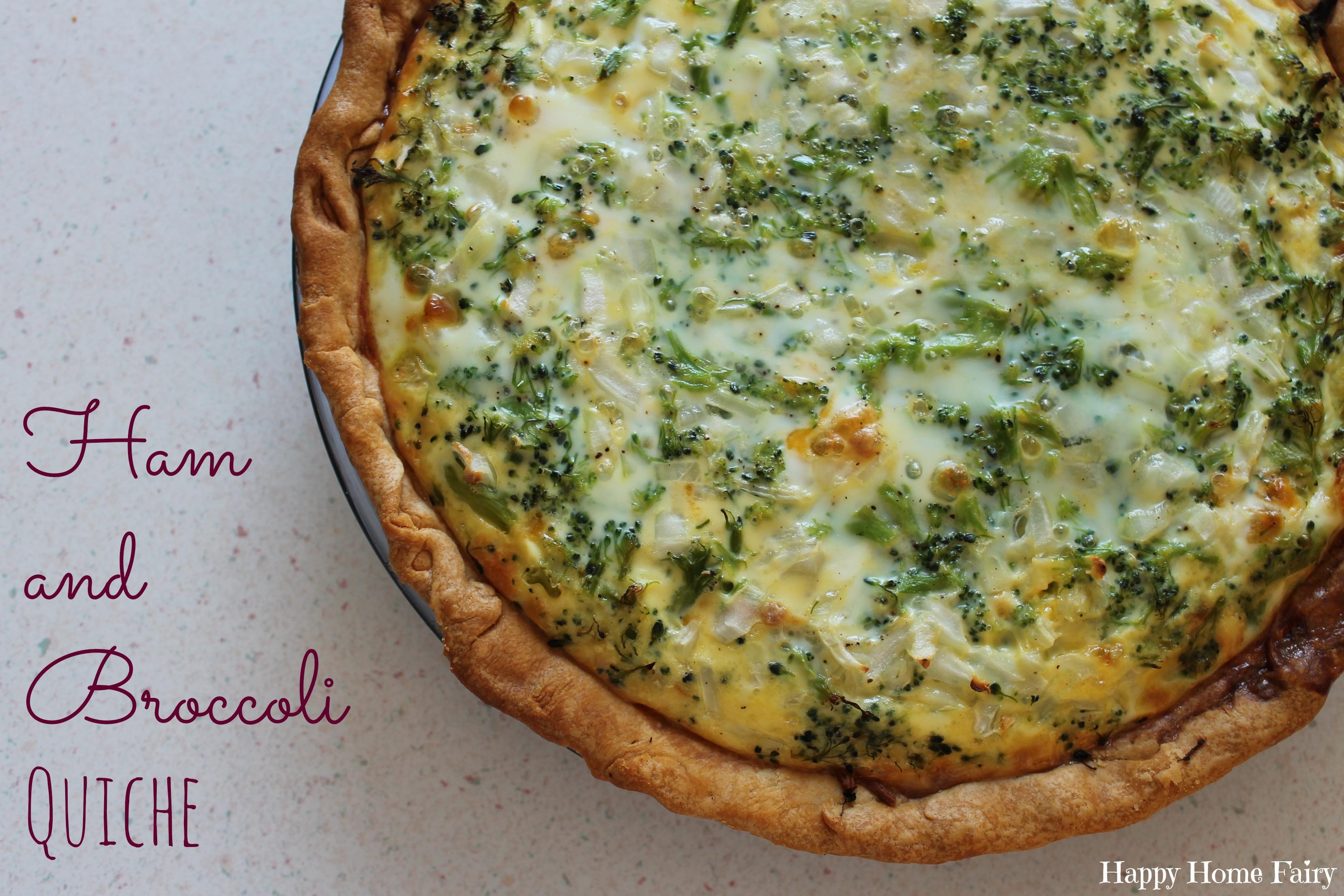 Recipe ham and broccoli quiche happy home fairy ham and broccoli quiche perfect for all that leftover easter ham a great dish forumfinder Gallery