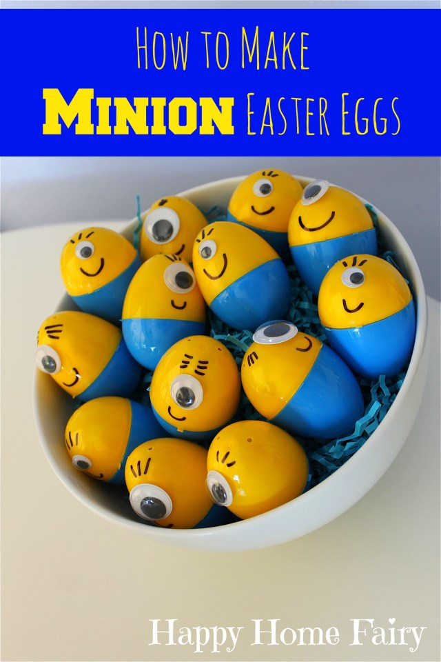 how to make minion eggs for Easter! couldn't be easier! and so cute!!!!!!
