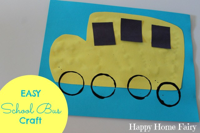 Such an easy and adorable craft for the beginning of school!
