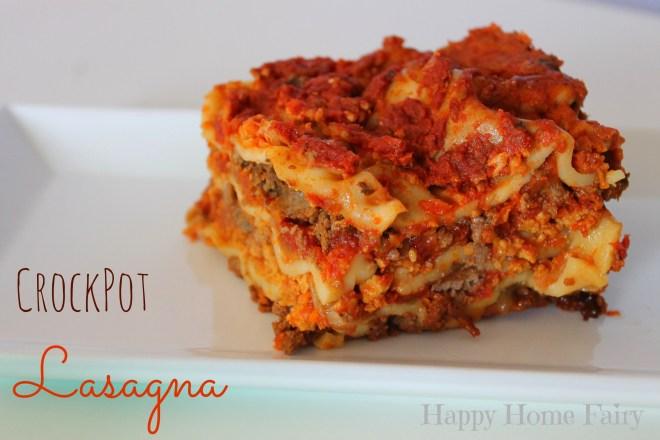 crockpot lasagna - SO easy! PErfECt for fall!