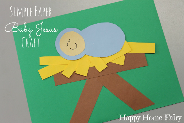 simple paper baby Jesus craft at happyhomefairy.com