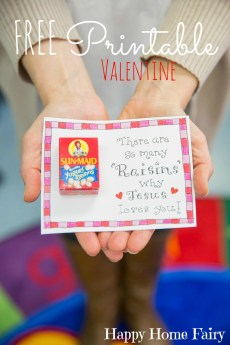 Adorable FREE Printable Valentine (and it's HEALTHY)