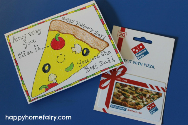 dad pizza card