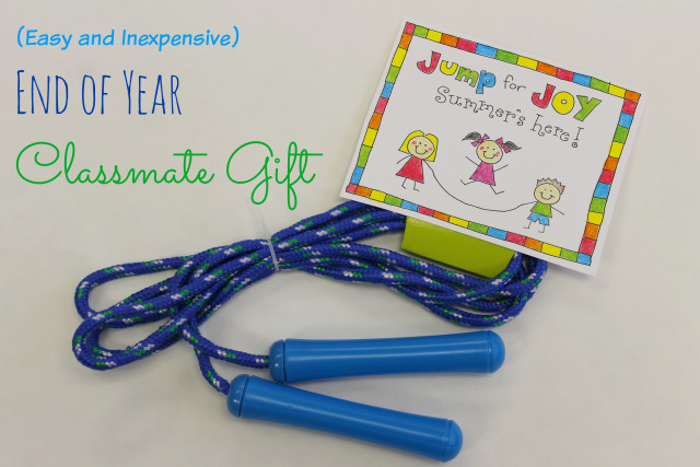 easy and inexpensive end of year classmate gift! love this!