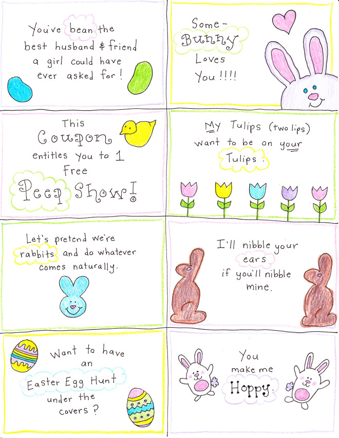 Happy Hubby Easter Cards
