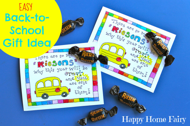 super cute and super easy (CHEAP) back to school gift idea for teachers, classmates, administration, etc.