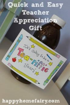 Easy Back to School Teacher Appreciation Gift