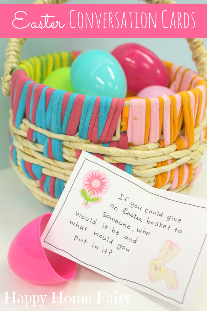 easter conversation cards at happyhomefairy.com - these are ADORABLE