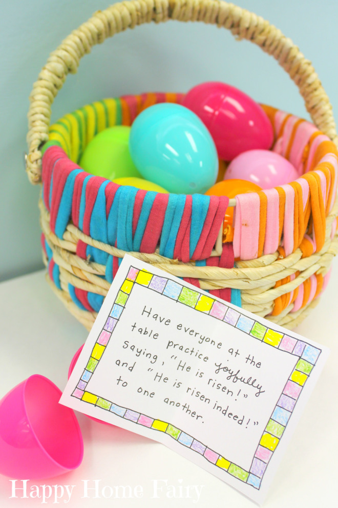 Easter-themed conversation cards! Perfect for our Easter family dinner!