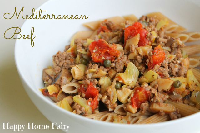 mediterranean beef at happyhomefairy.com