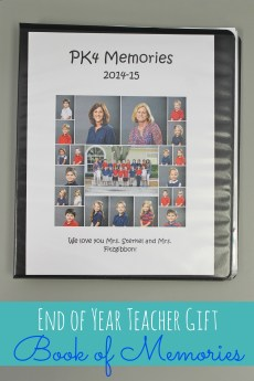 End of Year Teacher Gift – Book of Memories (FREE Printable)