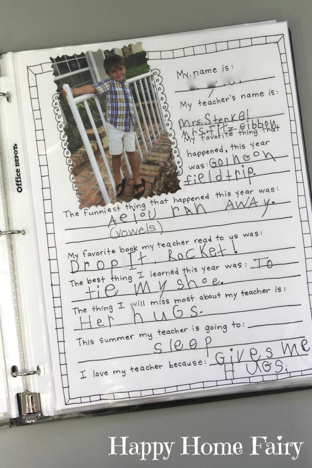 memory book for teachers 2