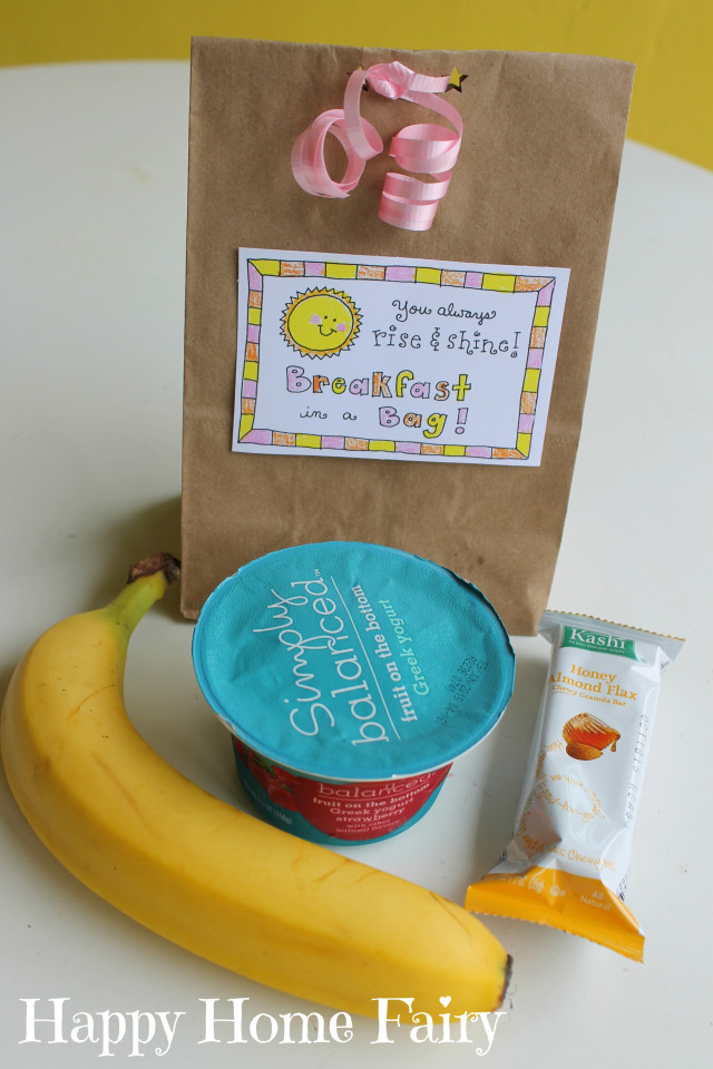 teacher appreciation free printable - breakfast in a bag