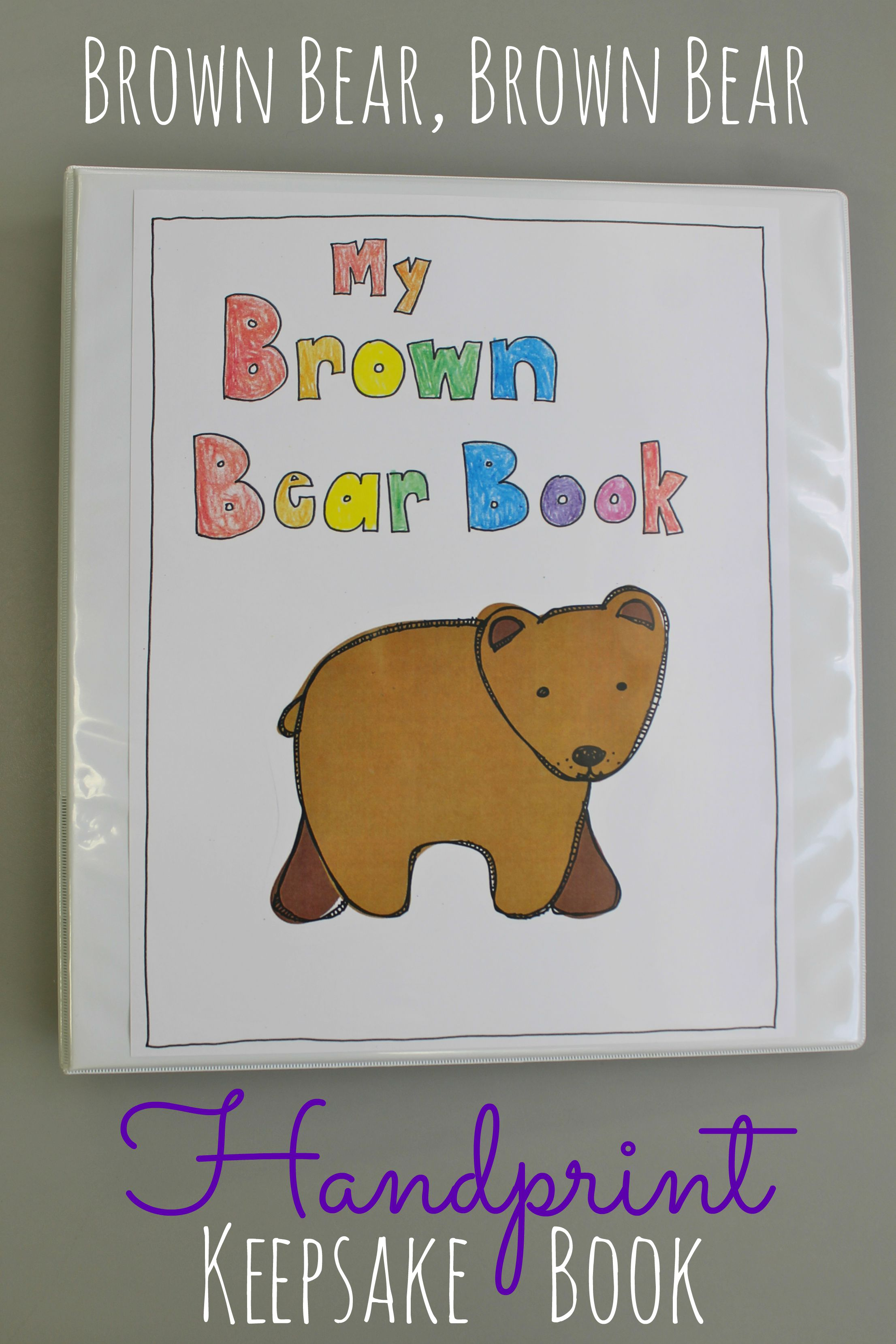 graphic about Brown Bear Brown Bear Printable Book Pdf known as Brown Undergo, Brown Go through Handprint Task - Satisfied Dwelling Fairy