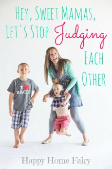 Hey, Sweet Mamas, Let's Stop Judging Each Other