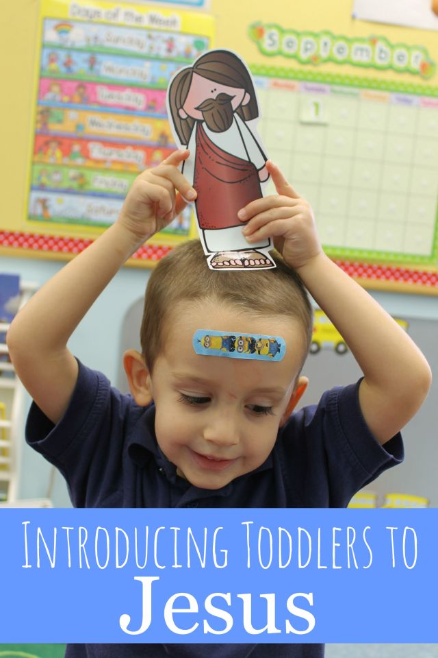 great ideas on how to introduce toddlers to Jesus!!
