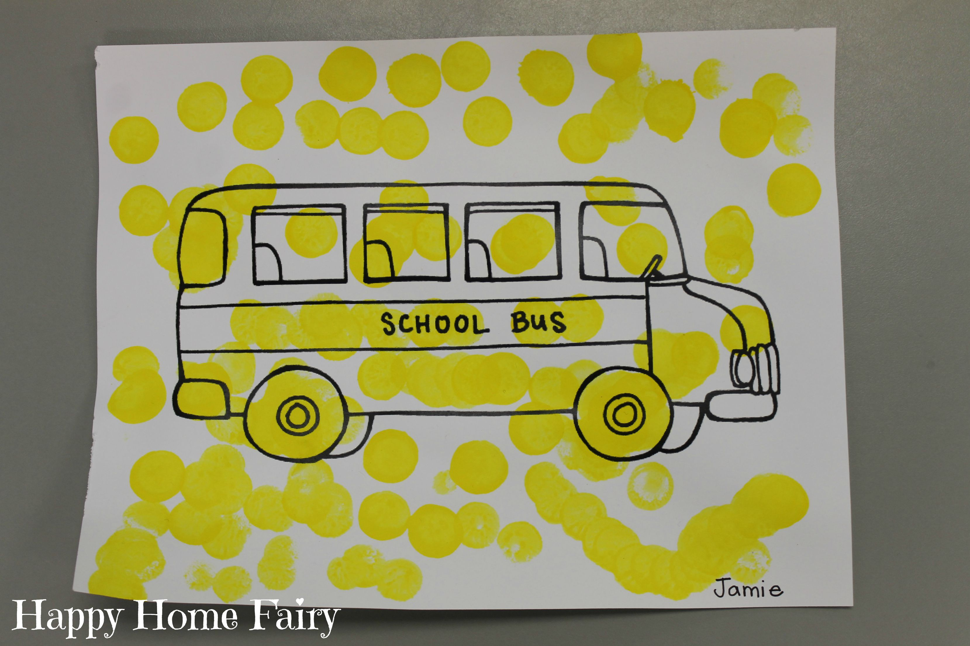 Preschool School Bus Theme - Happy Home Fairy